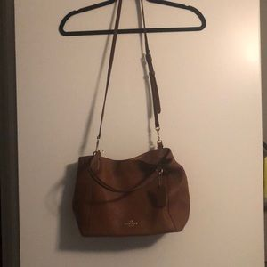 Coach Purse Leather Handle and Cross Over straps
